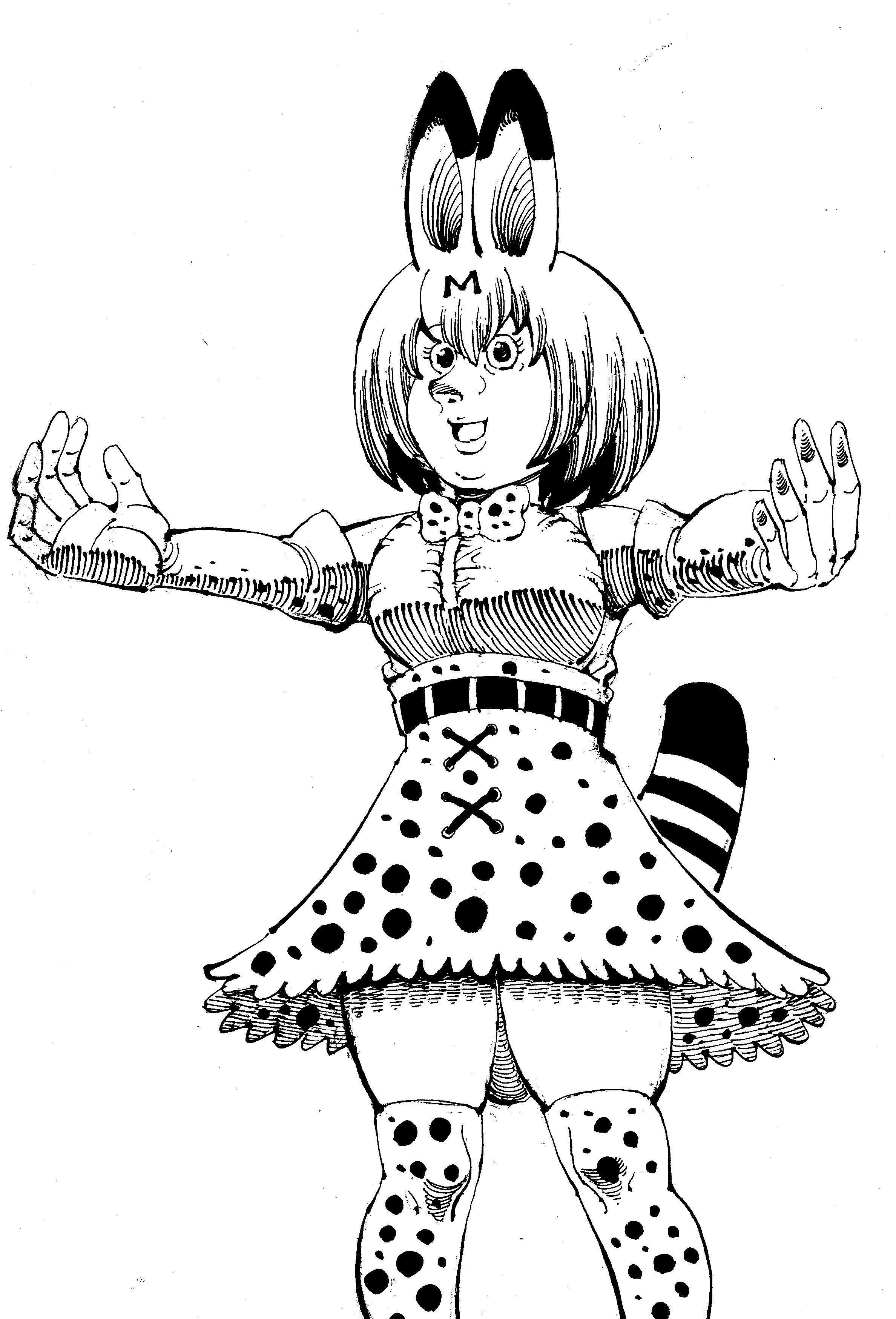 【日記】サーバルちゃんを描いた